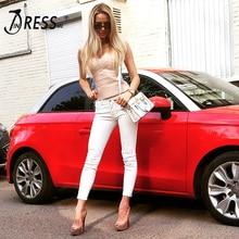 INDRESSME 2018 New Sexy Women's Elastic Spaghetti Strap Bandage Stretch V-Neck Tight Lady Camis Vest Tank Tops
