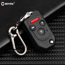 KEYYOU Remote 2/3/4 Button Flip Folding Car Key Shell Case For Honda Accord Civic CRV Pilot 2007 2008 2009 2010 2011 2012 2013
