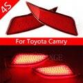 Красный Линзы СВЕТОДИОДНЫЙ Задний Бампер Отражатель Сборки Тормоз и Дальнего BackupTail Противотуманные Фары Для Toyota Camry 2014 2015 2016