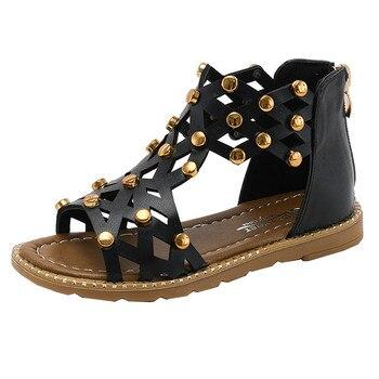 37a242519c Sandalias romanas de verano para niñas zapatos Zapatillas de cuero sandalias  casuales sandalias riremache sandalit zapatos niña