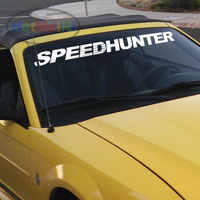 Car Styling SPEEDHUNTER Fornt Windshield Banners Decal Vinyl Car Stickers JDM 40 Creative Sticker Black Sliver