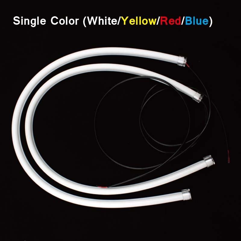 SUNKIA 2 Pcs / Pair Fleksibel 45cm Strip Cahaya Daytime Running Light - Lampu mobil - Foto 3