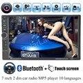 7 polegada tamanho 2 din Do Bluetooth Do Carro MP4 MP5 Player de rádio 12 V Toque Suporte de tela DVR em auto de Vídeo FM USB TF AUX 10 idiomas do menu