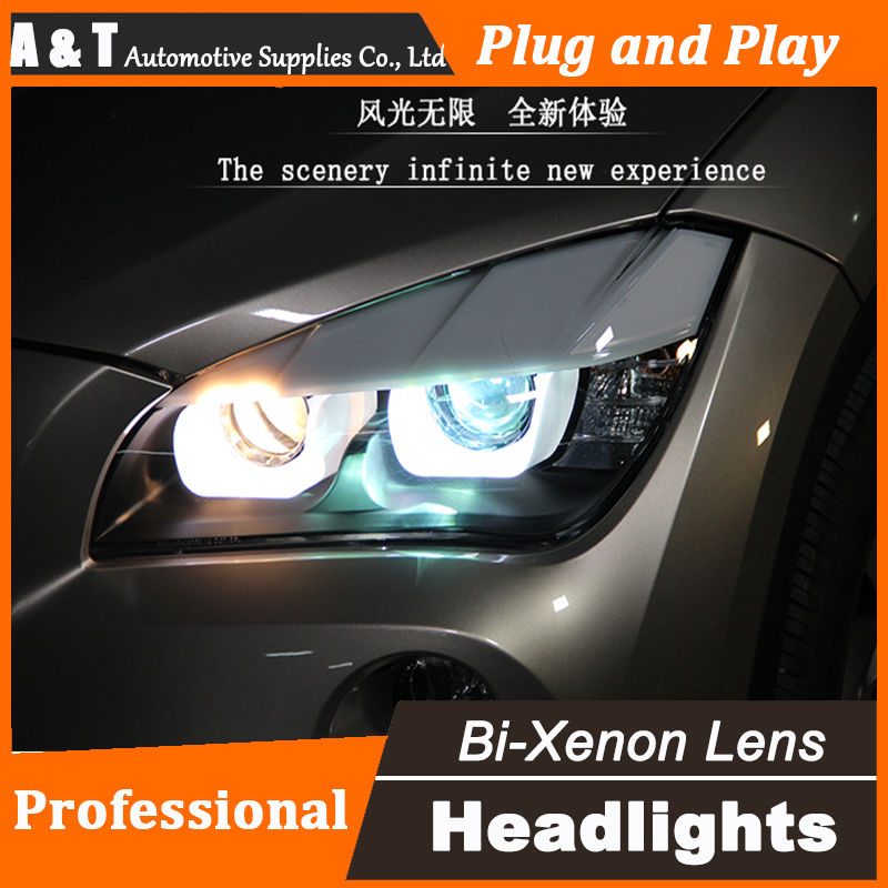 Car Styling Head Lamp for BMW E84 X1 led headlight assembly 2009-2014 E84 led drl H7 with hid kit 2 pcs. car styling head lamp for bmw e84 x1 led headlight assembly 2009 2014 e84 led drl h7 with hid kit 2 pcs
