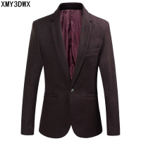 Male Woolen Blended Fabrics Slim Fit Blazer Mens Clothing Suit Jacket Men Solid Color Wedding Dress