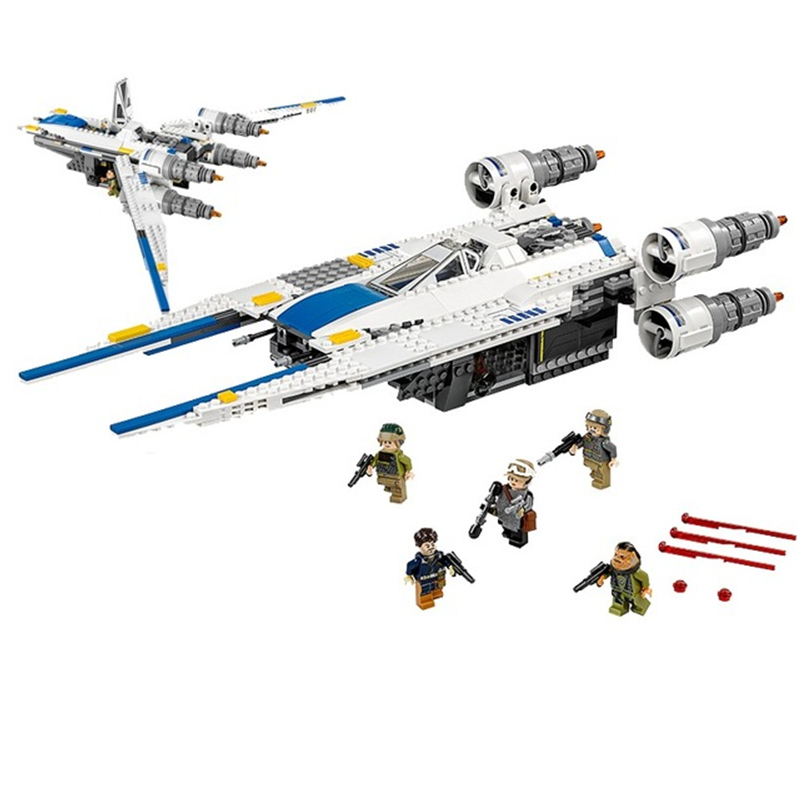 LEPIN Star Wars Rebel U-Wing Fighter STARWARS Building Blocks Sets Bricks Classic Model Toys Marvel Compatible Legoings 75155 lepin star wars millennium falcon special forces fighter starwars building blocks sets bricks classic model compatible legoings