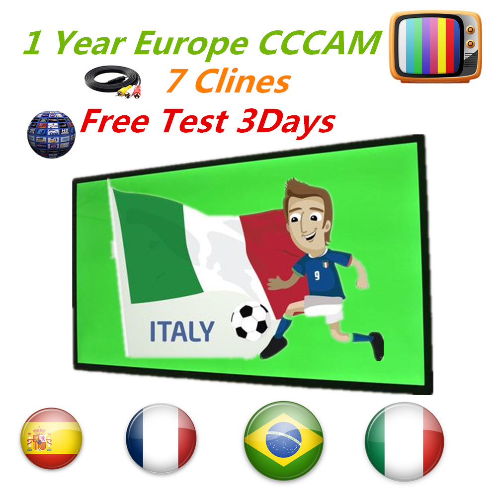 HD cccam 7 Cline for 1 year Europe Free Satellite ccam Account Share Sever Italy/Spain/French/Germany IKS 1year TV lines Cccam