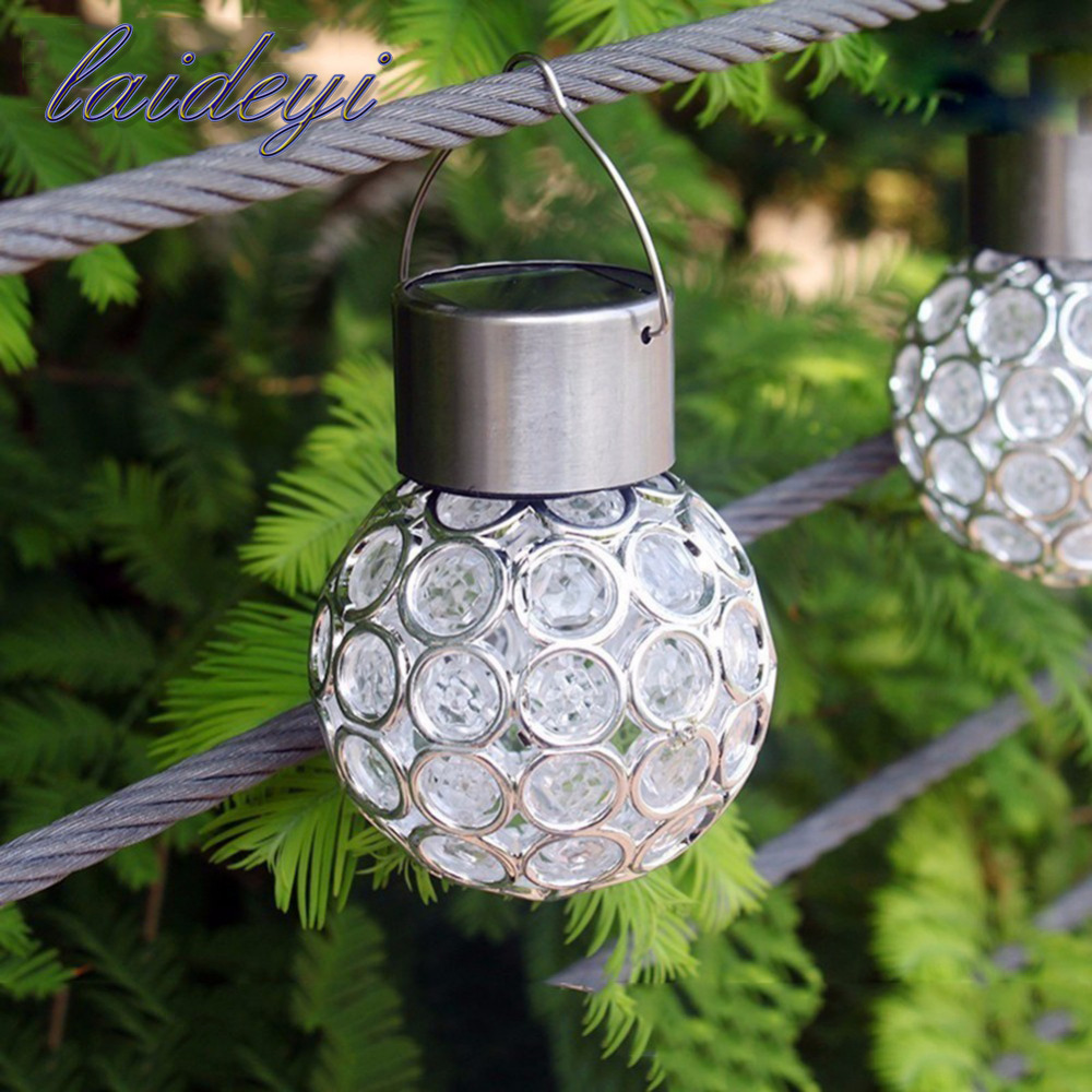 Outdoor Solar Landscape Lamp Peacock Eye Hanging Light LED Color Change Hanging Lights For Villa