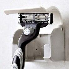Plastic Dustproof plastic suction-cup holder hanger for men razor shaver bathroom accessories White