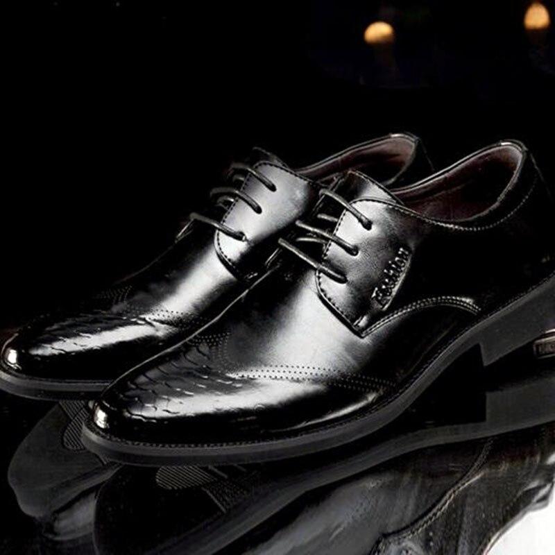 Black Desgaste Negócios Dedo De Patente Homens Trabalham Macio Casamento Não Do Respirável Sapatos Couro yellow Butom deslizamento Pé Brogue up Genuíno Lace Pontas 5wXO1xOI