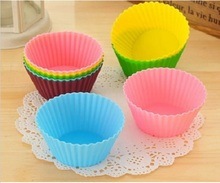 12pcs/lot Silicone Cupcake Liners Mold Muffin Cases Muti Round Shape Cup Cake Tools Bakeware Baking Pastry Tools Cake Mold