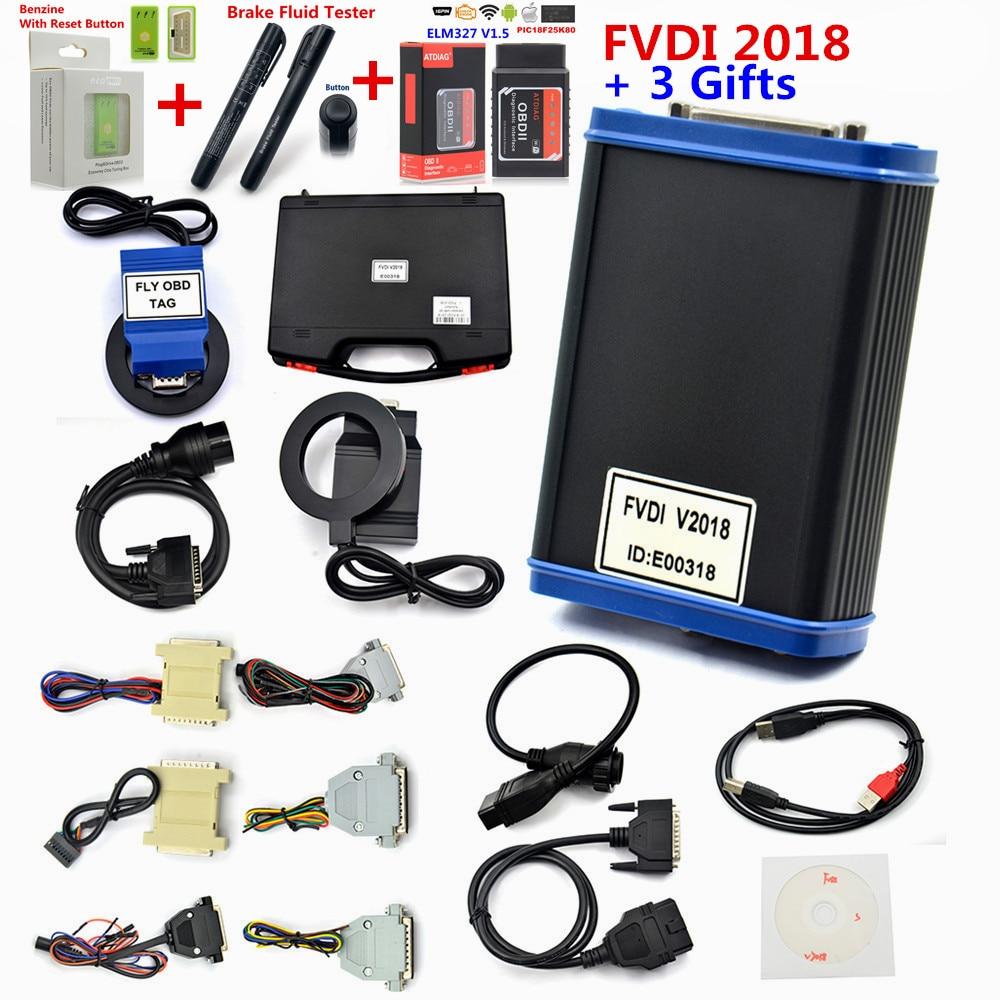 2018 FVDI V24 Car Styling Diagnostic Scanner FVDI V2018 FVDI ABRITES Commander With 18 Software In