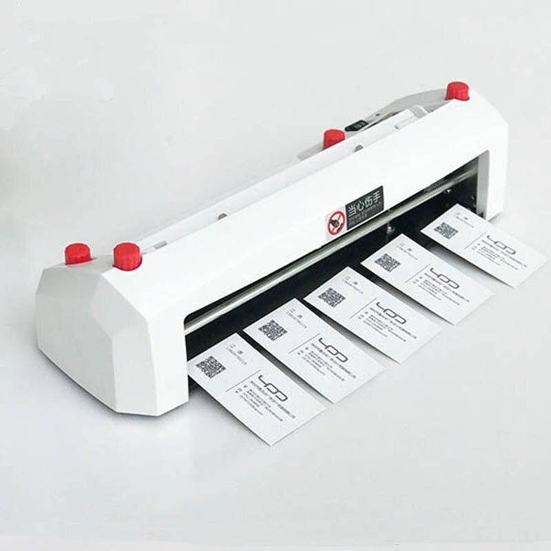 A4 größe elektrische visitenkarte schneiden maschine SK316 90*54mm karte größe SK316 Heavy duty feine tuning karte cutter 220 240 V 20 W HEIßER