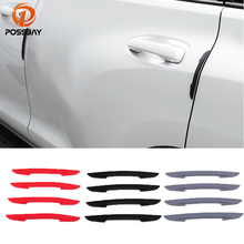 POSSBAY 4Pcs Car Door Protector Flexible Auto Door Guard Edge Corner Bumper Guards Buffer Molding Protection Strip Bar auto car door guard edge corner bumper 8pcs set guards buffer trim molding protection strip scratch protector car door crash bar