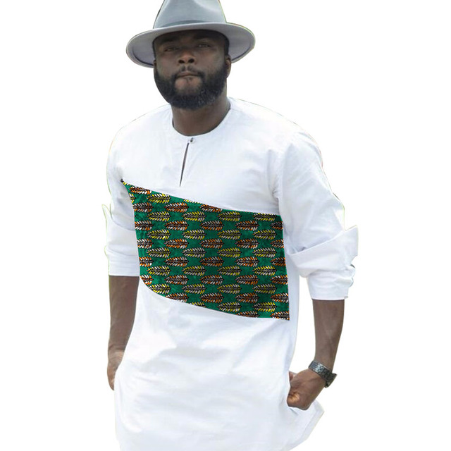 Buy african men print shirts private for Custom printed dress shirts