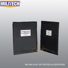 Ballisticแผงกระสุนแผ่นNIJระดับ 3A & NIJระดับ 0101.07 HG2 11X14 สี่เหลี่ยมผืนผ้าตัดคู่Aramidนุ่มเกราะ MILITECH