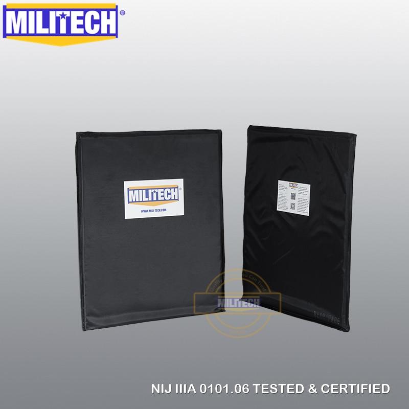 Ballistic Panel BulletProof Plate NIJ Level 3A &NIJ 0101.07 Level HG2 11 X 14 Rectangle Cut Pair Aramid Soft Body Armor-MILITECH