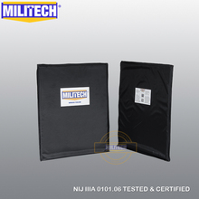 Ballistic Panel BulletProof Plate NIJ Level 3A &NIJ 0101.07 Level HG2 11 x 14 Rectangle Cut Pair Aramid Soft Body Armor MILITECH