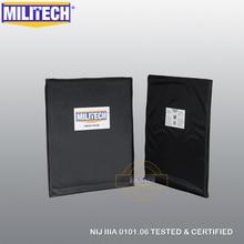 Placa antibalas de Panel balístico NIJ nivel 3A y NIJ 0101,07 nivel HG2 11x14 rectángulo corte par Aramid armadura de cuerpo suave MILITECH