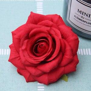 Image 5 - 50 teile/los Günstige Silk Rose Heads Real Touch Künstliche Blume für Braut Bouquet Rrist Zubehör Hochzeit Marriag Auto Decor
