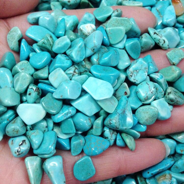 Turquoise gravier turquoise vert concassé cristal réservoir de poisson pot de fleur aimant aquarium décoration culbuté pierres