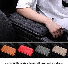 Универсальный автомобильный-Стайлинг мягкий кожаный чехол для автомобиля центральный подлокотник консольный ящик подлокотник сиденье защитная накладка Авто автомобильное сиденье коврик