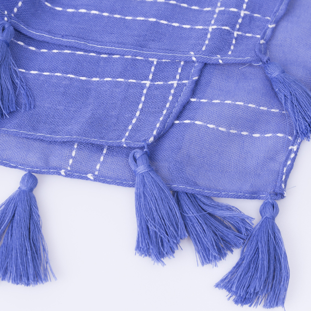 Spring Tassel Checker Scarf | Shawls and Wraps | Up to 60% Off Now