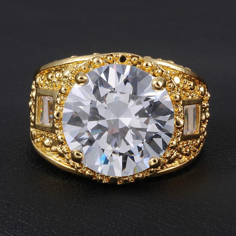 Jenny G Jewelry Delxue Big Diamond Simulated CZ Gem Stone 18K ...