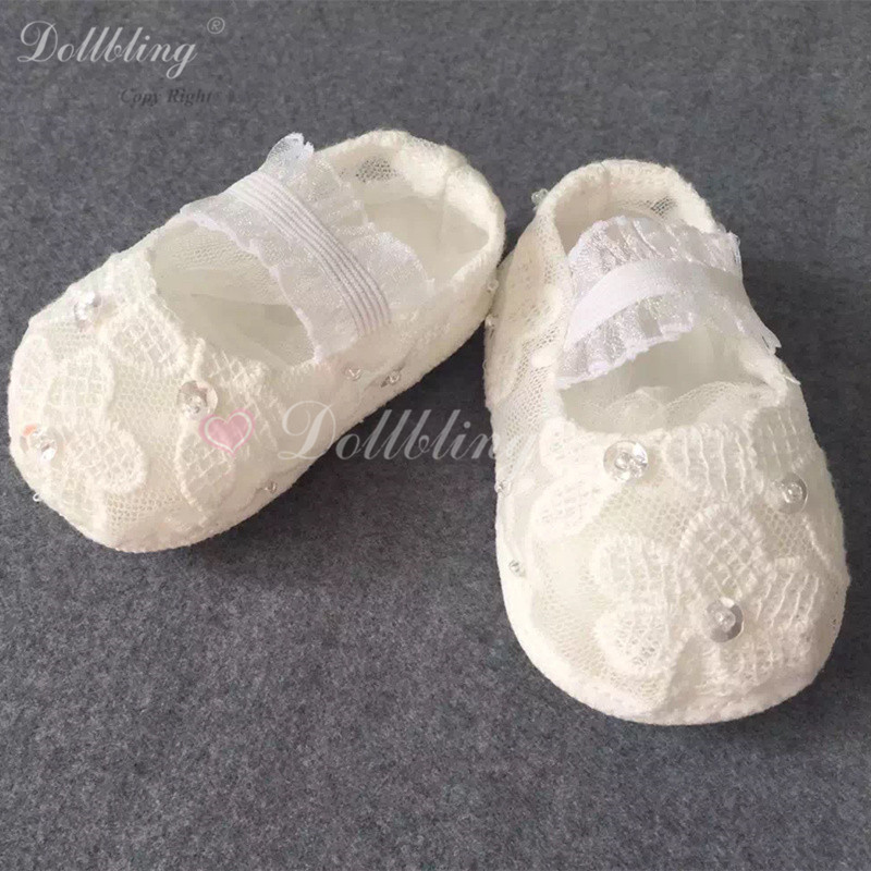 Lace Korean Hat Match Baptism Designer Custom Made Kindergarten Elegance  Baby Pram Shoes Diamond Satin Infant First Walkers 8f8254b0a9d2