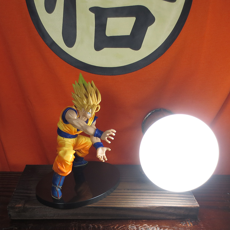 KNL HOBBY Dragon Ball LED desk lamp explosion models hand the Monkey King charroux game  ...