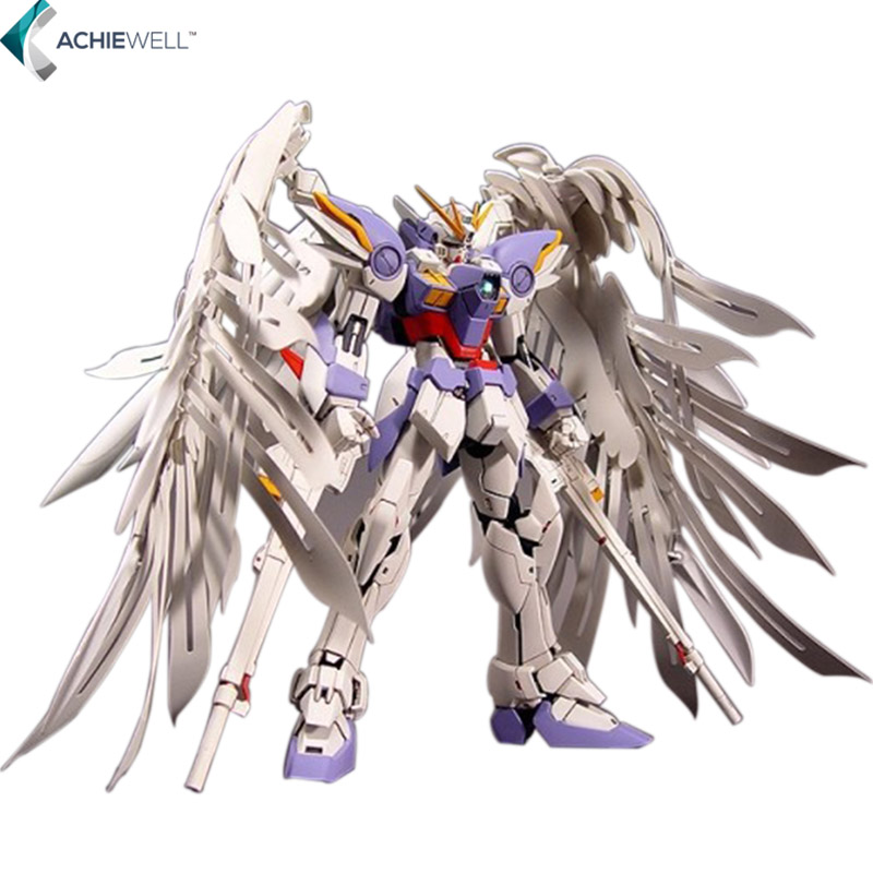 Brand 1:100 MG Gundam 20cm Wing Zero Wing Fighter MG028 Anime Assembled Soldiers Robot With Orignal Box Action Figure free shipping new 1 100 mg 20cm wing zero ew high fly gundam to 1 100 angel hair loss bracket change parts