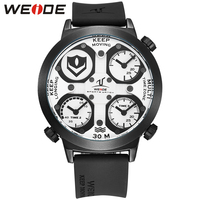 WEIDE Watch Men Sport Waterproof Relogios Masculinos De Luxo Original Diving Watch Unique Multiple Time Zone