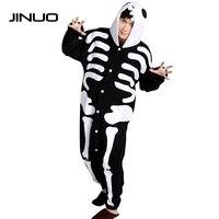JINUO Animal Cosplay Costume Pajamas Adult Onesies Sleepwear Halloween Skeleton Anime Adult Onesies Pyjamas Cartoon