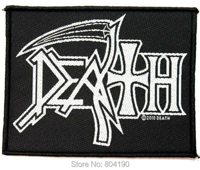4 DEATH Logo Music Band Woven NEW IRON ON and SEW ON Cool Rock Punk Badge