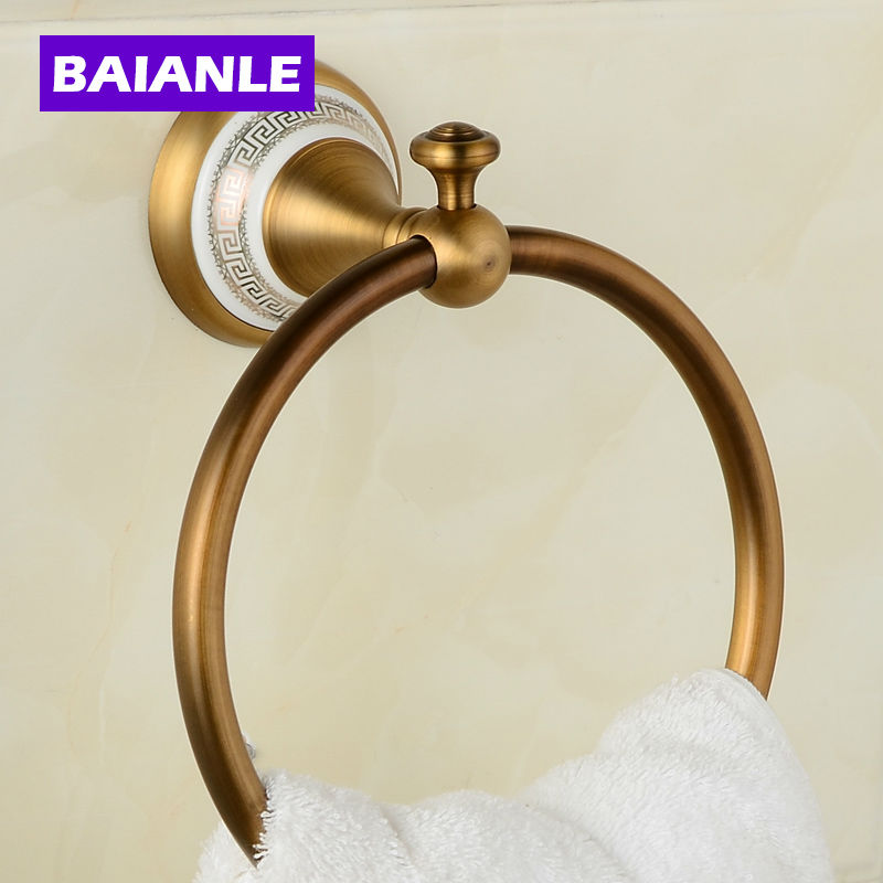 Copper Ceramics Gold Bronze finished Towel Ring,Towel Holder,Towel Bar Bathroom Accessories useful for Bathroom nervilamp 710 2a gold bronze