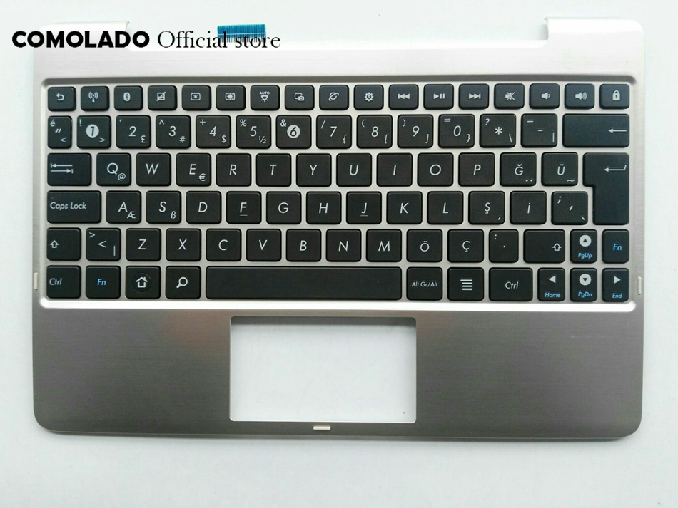 TR turkey turkish Keyboard For ASUS TF101 TF201 TF201T TF700T Silvery Upper cover Keyboard TR Layout