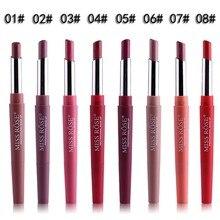 MISS ROSE 8 Colors Double Head Matte Waterproof Lipliner Lipstick Makeup Long La