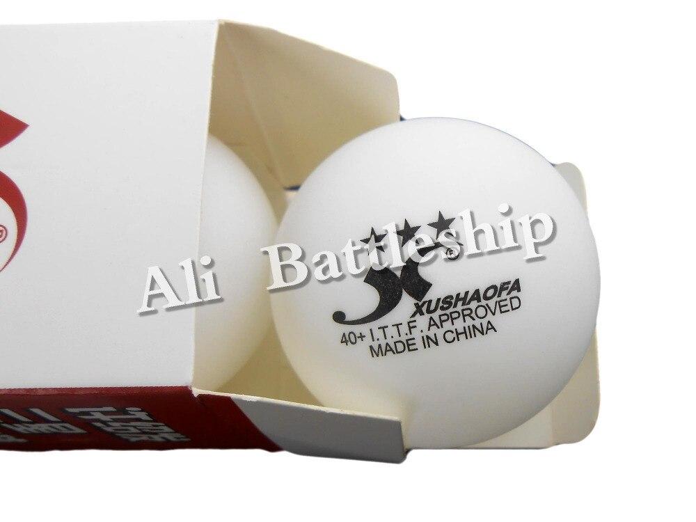 Original 6x XUSHAOFA 40+ Table Tennis Balls White 3 Stars