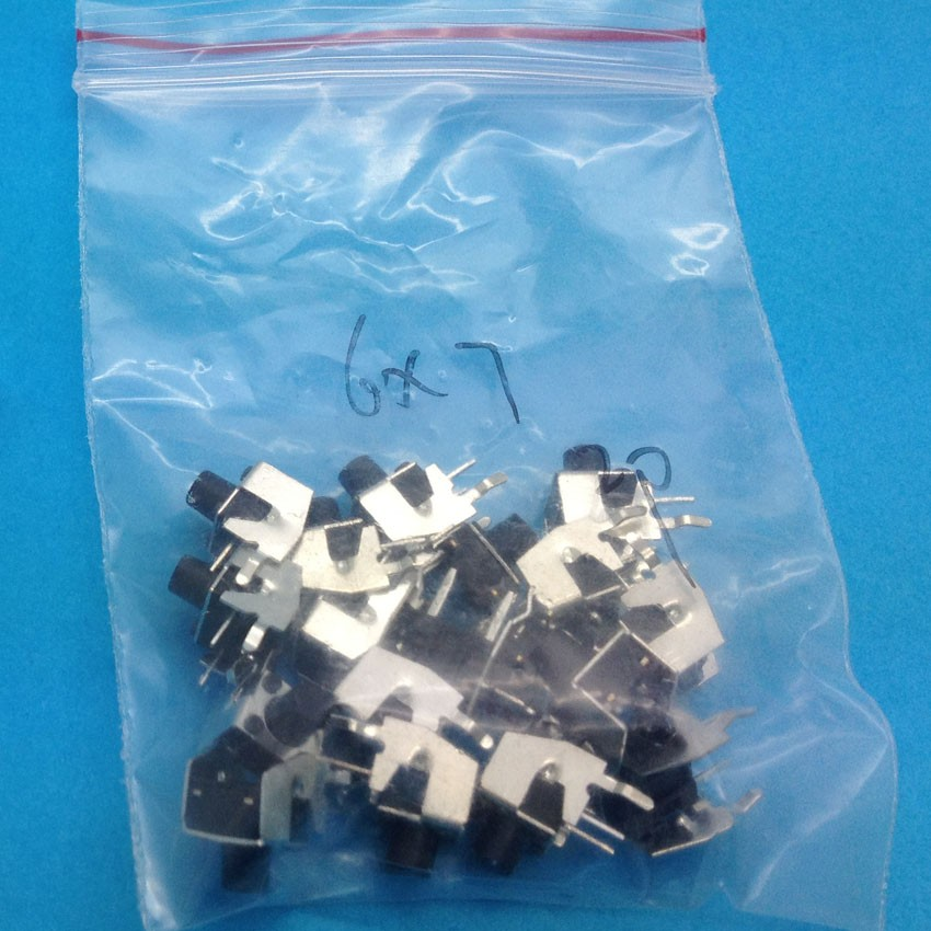 100PCS 6X6X7 DIP Tactile Tact Mini Push Button Switch Micro Switch Momentary 6*6*7mm