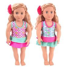 New 18-inch baby clothes accessories American doll swimsuit childrens toy clothesc746