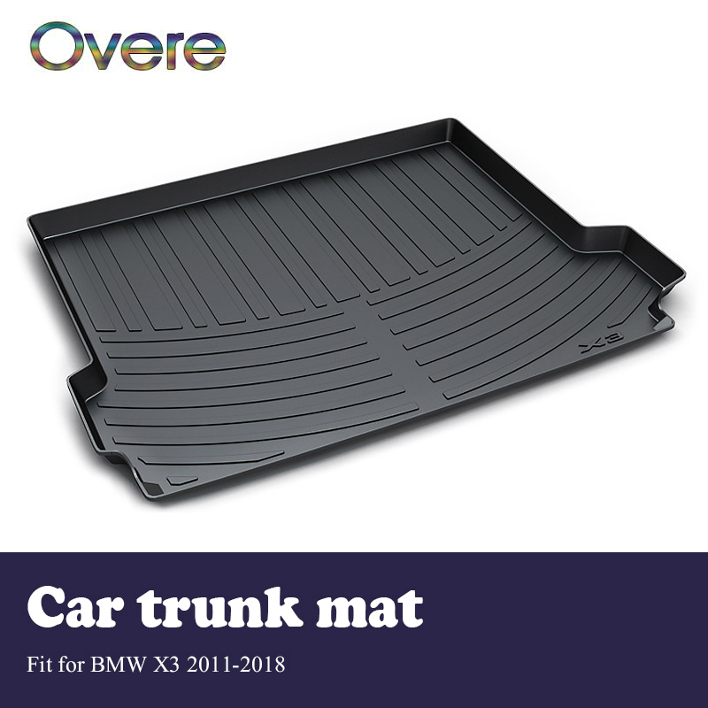 Overe 1Set Car Cargo rear trunk mat For BMW X3 F25 2011 2012 2013 2014 2015 2016 2017 2018 Boot Liner Anti Slip Mat accessories цена