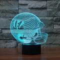 Casco de Fútbol Americano Cincinnati Bengals Nfl Logo 3D Light 7 Color LED de Acrílico Lámpara de Mesa Luz de La Noche de Regalo de Navidad para Niños 3441