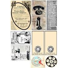 2 unids/lote Vintage teléfono cartelera Deco DIY pegatina del planificador Paquete de cuaderno Agenda pegatinas Linda papelería escuela cosas
