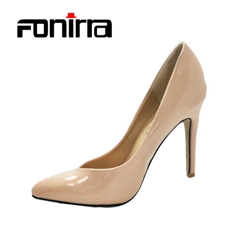 FONIRRA Women Pumps Sexy Super High Heel Shoes for Office Ladies Shoes PU Leather Black Party Shoes for Woman 599 purple platform super high heeled pumps shoes for woman ladies girl purple party dinner shoes ladies crystal pearls shoe tg784