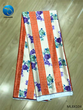 LIULANZHI Prints Fabric Colorful Flower Silk Wax for Dresses Soft Ankara ML8X104