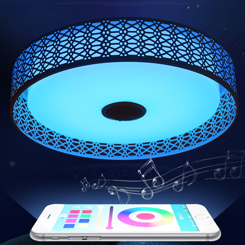 Modern Bluetooth Speaker LED Ceiling Light Remote Control RGB LED Music Lamp Dimmable Living Room Lighting lamp Smart APP - 5