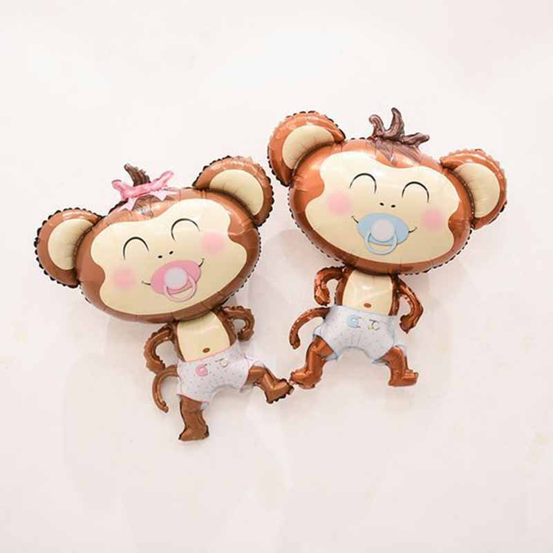 Monkey Foil Balloons 10pcs 16inch Inflatable Air Baloes Baby Shower Birthday Party Decorations Kids Toys Animal Theme Ballons