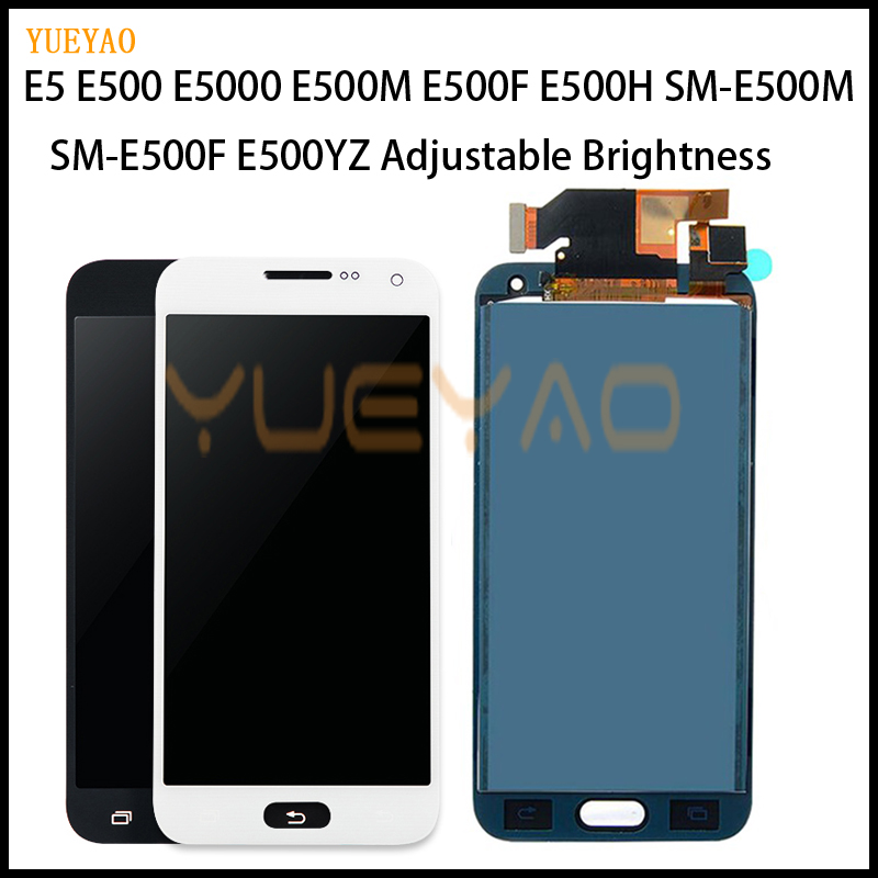 <font><b>LCD</b></font> Für Samsung Galaxy E5 <font><b>E500</b></font> E500F E500H E500M Volle <font><b>LCD</b></font> Display Panel Monitor + Touchscreen Digitizer Sensor Glas montage image