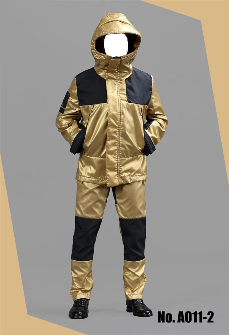1/6 Golden and Silver Moutain Wear Outdoor Jacket with Pants T Shirt and Shoes Suit for 12''Bodies Accessories t shirt and pants