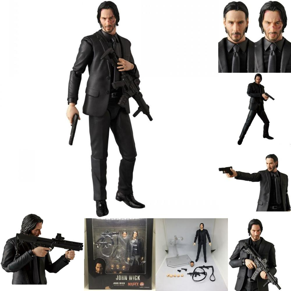 New Mafex 070 JOHN WICK Action Figure Model Toy Gift For Kids